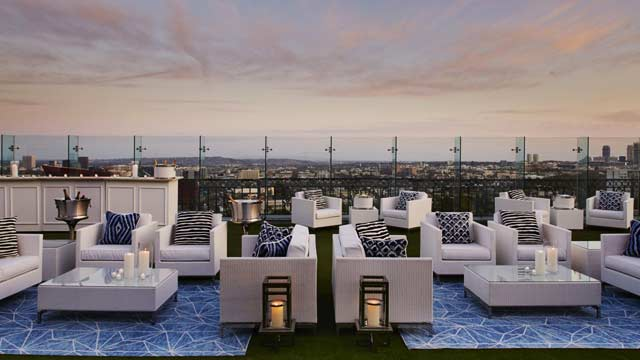 Rooftop bar LA Pool At The London West Hollywood in Los Angeles