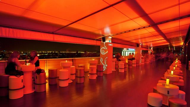 Rooftop bar Madrid The MARMO terrace at Hotel Silken Puerta de América in Madrid