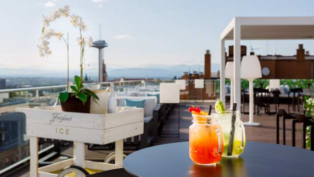 Rooftop bar Madrid Sky Moncloa - Hotel Exe in Madrid