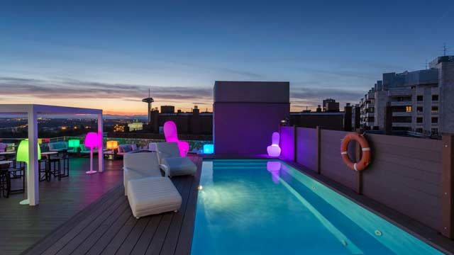 Sky Moncloa Hotel Exe Rooftop Bar In Madrid The