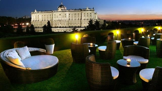 Rooftop Terrace Jardines De Sabatini Rooftop Bar In Madrid
