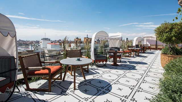 Picos Pardos Sky Lounge At Bless Hotel Madrid Rooftop Bar