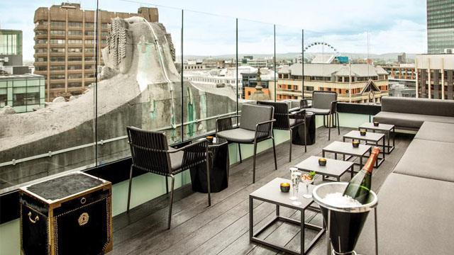 Rooftop bar Manchester Brass Club at Hotel Gotham in Manchester