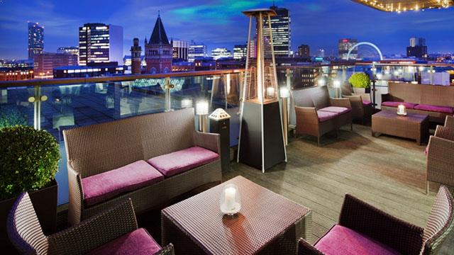 Rooftop bar Manchester Skylounge at Doubletree in Manchester
