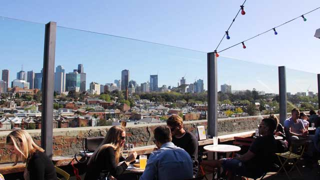 Rooftop bar Melbourne Naked in the Sky in Melbourne