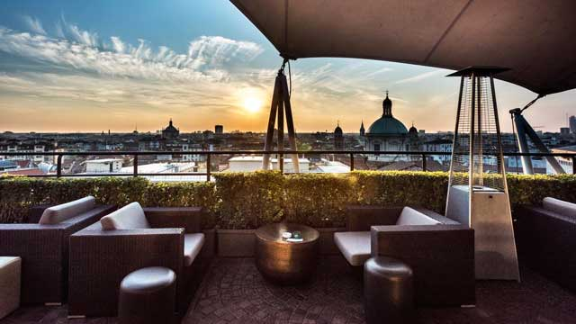 La Terrazza Dei Cavalieri Rooftop Bar In Milan The