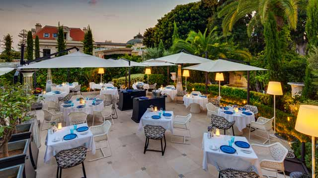 Rooftop bar Odyssey at Hotel Metropole in Monaco