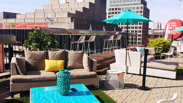 Rooftop bar Montreal Six Resto Lounge in Montreal