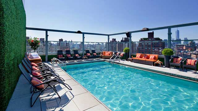 Rooftop in NYC Gansevoort Meatpacking in New York