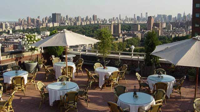 Rooftop In Nyc The Sky Terrace At Hudson Hotel New York