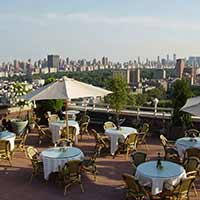 Rooftop in NYC The Sky Terrace at the Hudson Hotel in New York