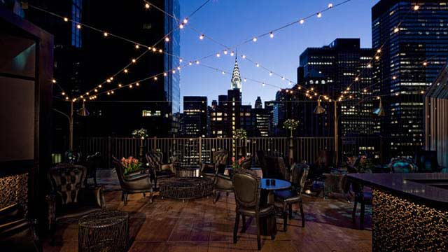 Rooftop in NYC Upstairs at the Kimberly in New York