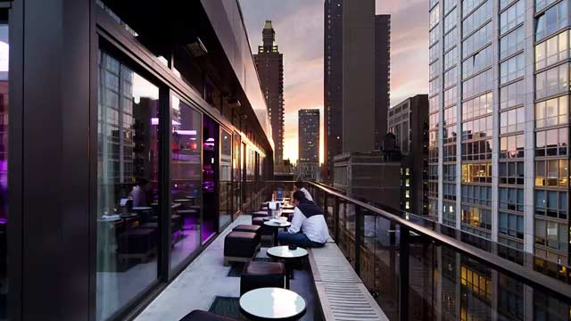 Rooftop At Royalton Park Avenue Rooftop Bar In New York