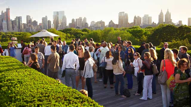 The Cantor Roof Garden Bar Rooftop Bar In New York Nyc The