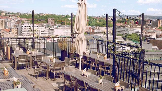 Rooftop bar Oslo Stratos in Oslo