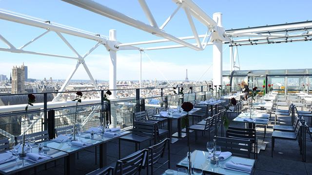 le georges at the pompidou rooftop bar in paris the rooftop guide. Black Bedroom Furniture Sets. Home Design Ideas