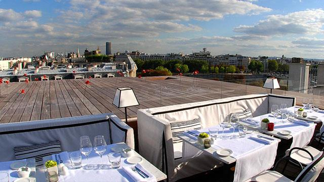 maison blanche rooftop bar in paris therooftopguide com. Black Bedroom Furniture Sets. Home Design Ideas