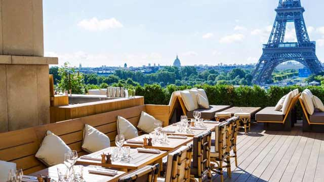 balcony bar and cafe Caf De LHomme Rooftop Bar In Paris The Rooftop Guide