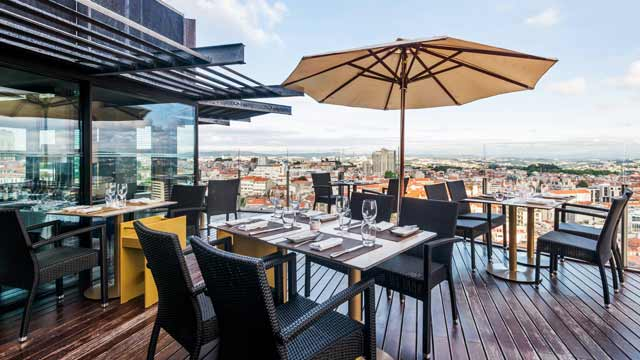Rooftop bar 17º Restaurante & Bar in Porto
