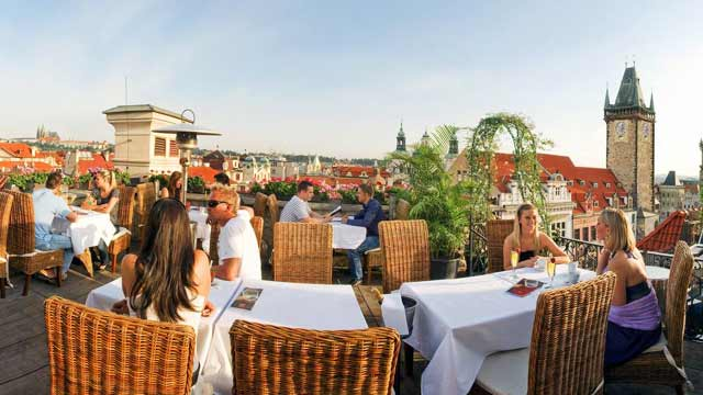 Terasa u prince rooftop bar in prague therooftopguide com for Terrace u prince prague