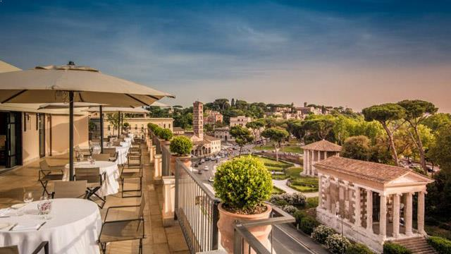 Rooftop bar Rome FortySeven Hotel in Rome