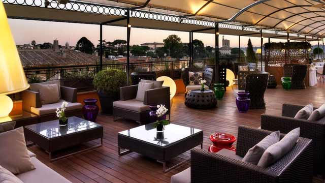 The Flair At Sina Bernini Bristol Rooftop Bar In Rome
