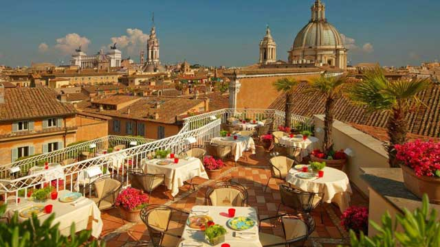 Hotel Raphael Rome Rooftop Bar In Rome The Rooftop Guide