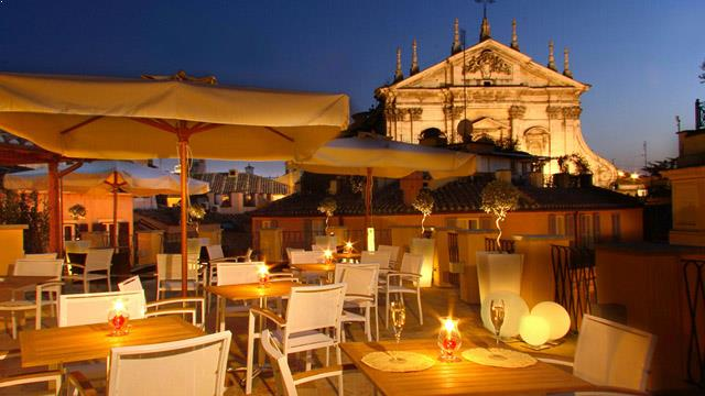 Aroma Restaurant At Palazzo Manfredi Rooftop Bar In Rome