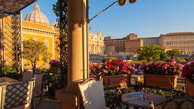 Rooftop bar Rome Residenza Paolo VI Hotel in Rome