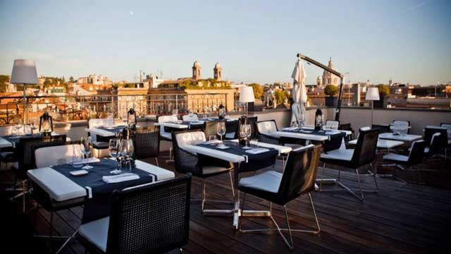 Aquaroof At The First Luxury Art Hotel Rooftop Bar In Rome