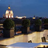 Rooftop bar Rome The First Luxury Art Hotel in Rome