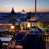 Rooftop bar Marcella Royal Hotel in Rome