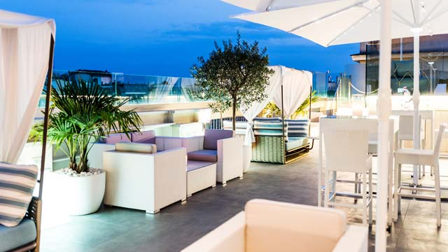 Sky Blu Pool Terrace At Aleph Rome Hotel Rooftop Bar In