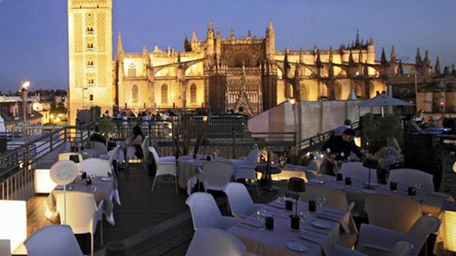 Best rooftop bars in seville 2018 complete with all info - Terraza hotel eme ...