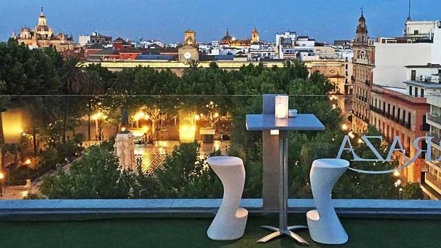 La Terraza At Hotel Inglaterra Rooftop Bar In Seville