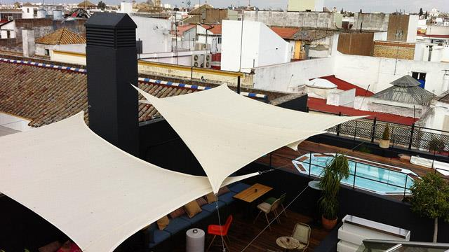 Rooftop bar Seville Roof at Casa Romana Hotel Boutique in Seville