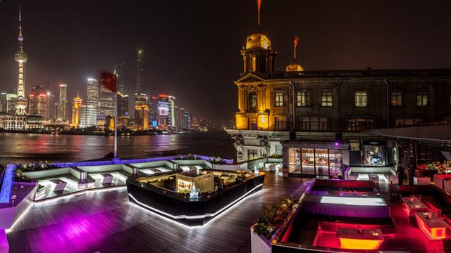 Rooftop bar Shanghai Bar Rouge in Shanghai