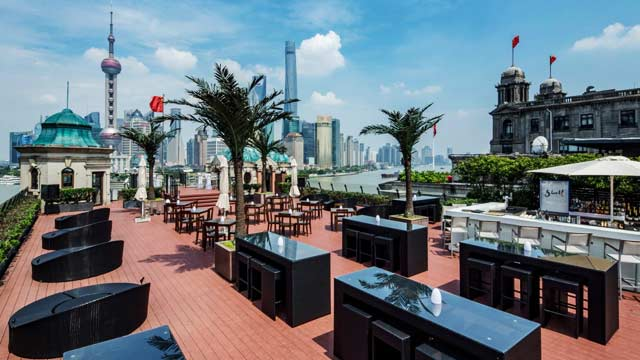 Swatch Art Peace Hotel Rooftop Bar In Shanghai The