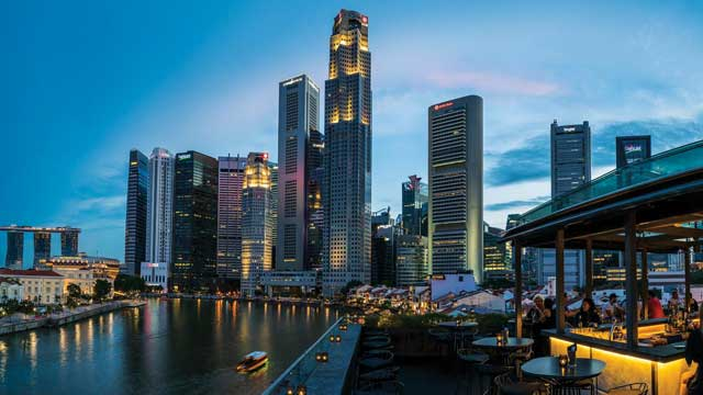 Rooftop bar Singapore Southbridge in Singapore